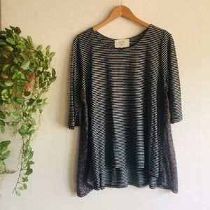 Anthropology Striped Top